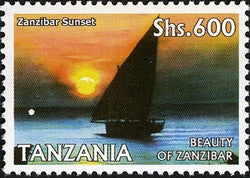 Beauty of Zanzibar - Zanzibar Sunset - Philately Tanzania stamps