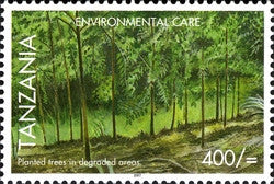 Environmental Care - Tree Planting in degraded areas - Philately Tanzania stamps
