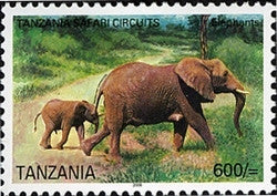 Tanzania Safari Circuits - Elephant - Philately Tanzania stamps