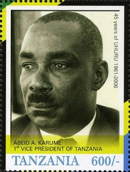 45th Anniversary of Tanzania Independence (1961-2006) - Abeid A. Karume - Philately Tanzania stamps