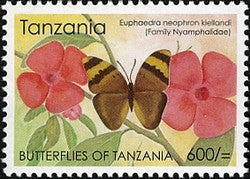 Butterflies of Tanzania - Euphaedra neophron kiellandi - Philately Tanzania stamps