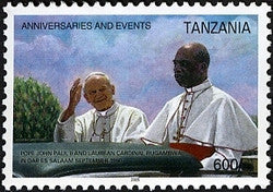 Anniversaries & Events - Pope John Paul II and Laurean Cardinal Rugambwa - Philately Tanzania stamps