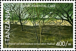 Environmental Care - Traditional soil and moisture conservation - Philately Tanzania stamps