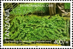 Environmental Care - Tree seedlings - Philately Tanzania stamps