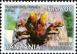 Beauty of Zanzibar - Coconut crabs, Chumbe Island - Philately Tanzania stamps