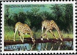 Tanzania Safari Circuits - Giraffe - Philately Tanzania stamps