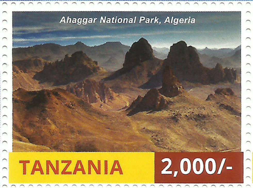 National Parks of Africa-Ahaggar - Philately Tanzania stamps