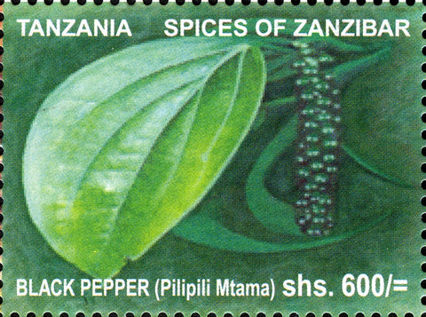 Spices of Zanzibar-Black Paper - Philately Tanzania stamps