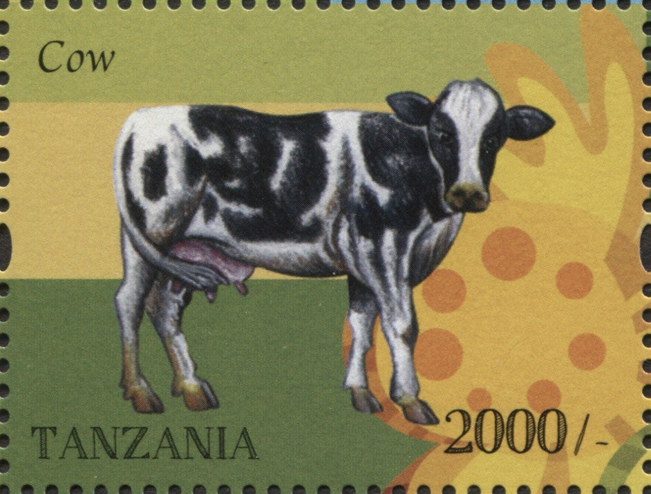 Farm Animals-Cow - Philately Tanzania stamps