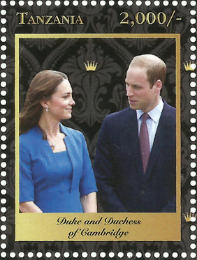 Royal Family-Duke and Duches - Philately Tanzania stamps