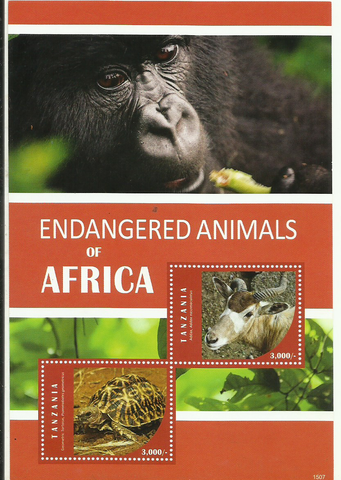 endangered - Philately Tanzania stamps