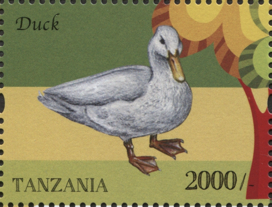 Farm Animals - Duck - Philately Tanzania stamps