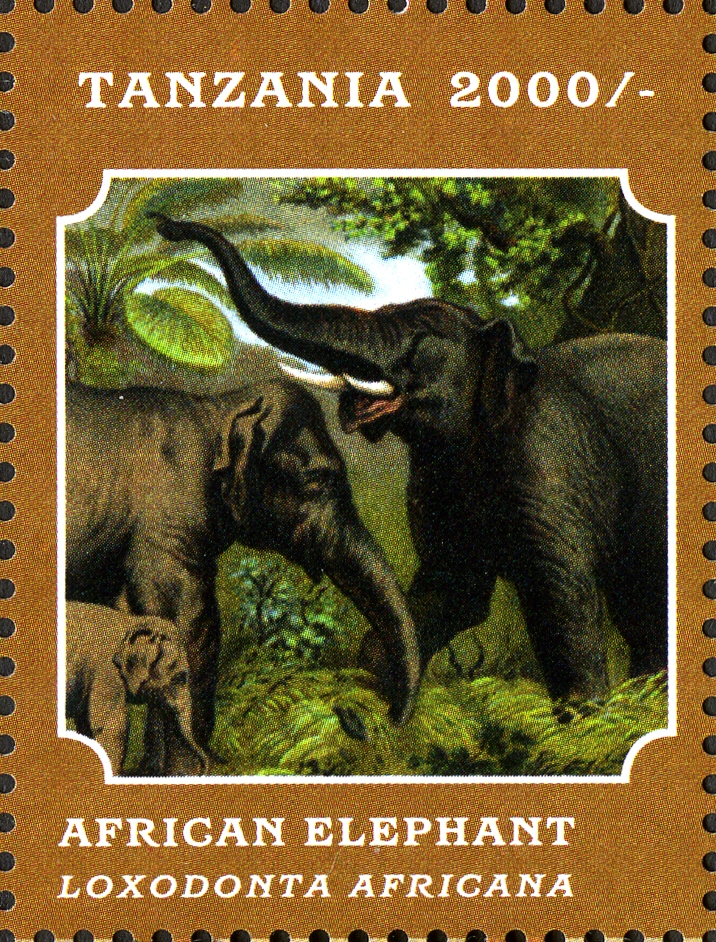 Fauna Mammals - Elephant - Philately Tanzania stamps