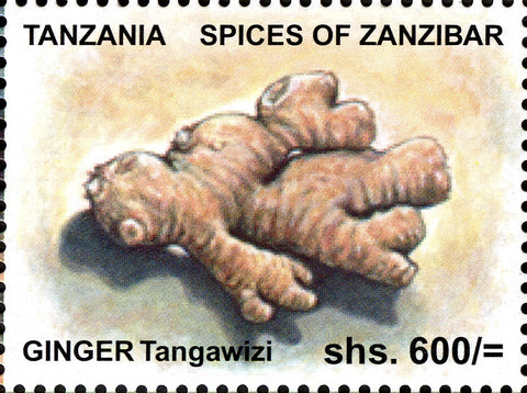 Spices of Zanzibar-Ginger - Philately Tanzania stamps