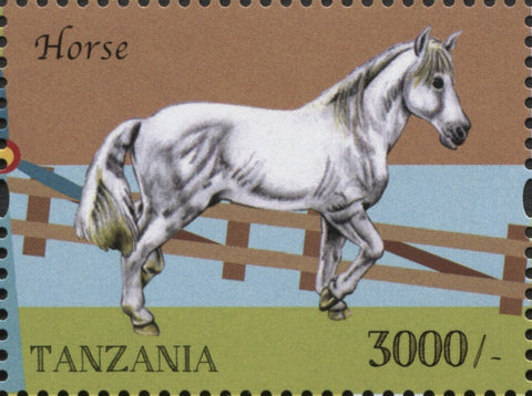 Farm Animals-Horse - Philately Tanzania stamps