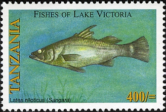 Fishes of Lake Victoria - Lates niloticus - Philately Tanzania stamps