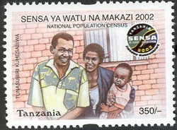 National Population Census 2002 - Philately Tanzania stamps