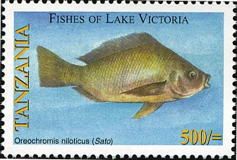 Fishes of Lake Victoria - Oreochromis - Philately Tanzania stamps