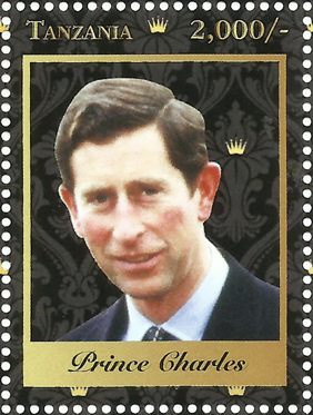Royal Family-Prince Charles - Philately Tanzania stamps