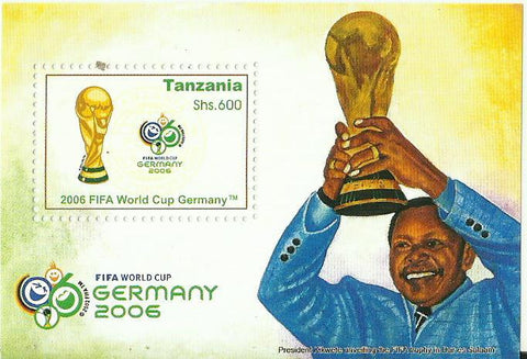 2006 FIFA World Cup Germany - Souvenir - Philately Tanzania stamps