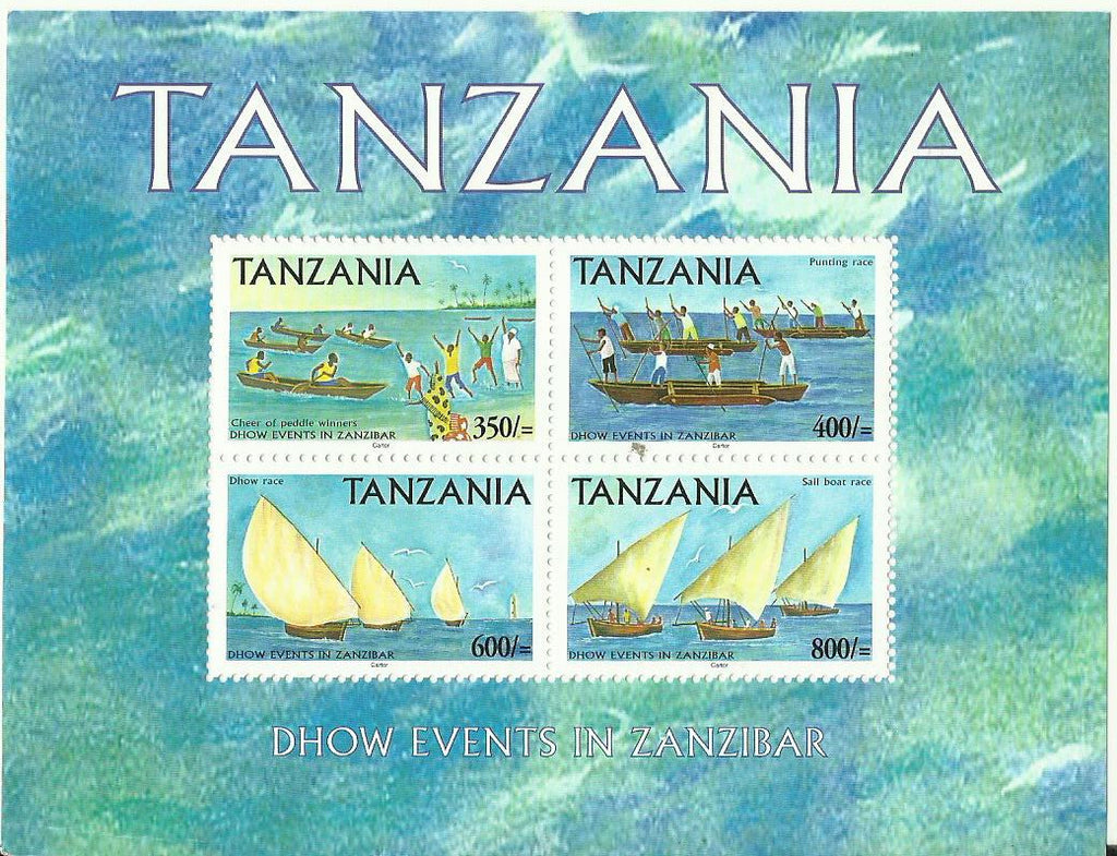 Dhow Events in Zanzibar - Sheetlet - Philately Tanzania stamps
