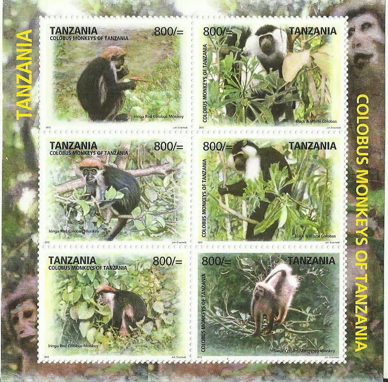Colobus of Tanzania - Sheetlet - Philately Tanzania stamps