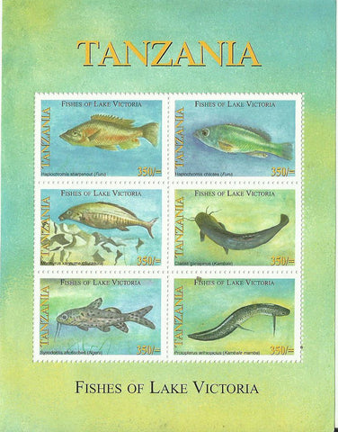 Fishes of Lake Victoria - Sheetlet - Philately Tanzania stamps