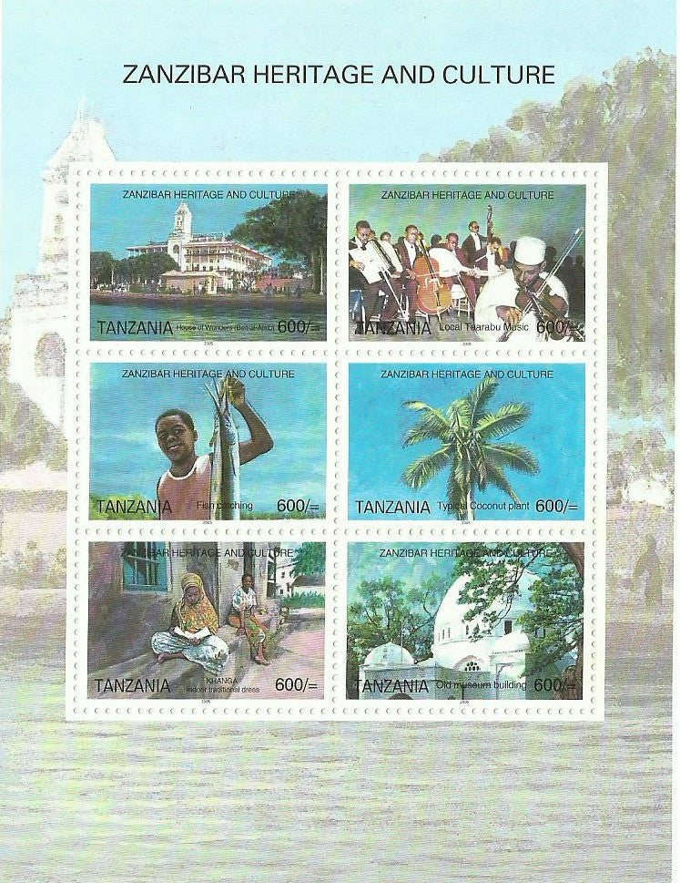 Zanzibar Heritage and Culture - Sheetlet - Philately Tanzania stamps