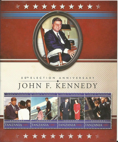 50th Election Anniversary of John F. Kennedy - Sheetlet - Philately Tanzania stamps