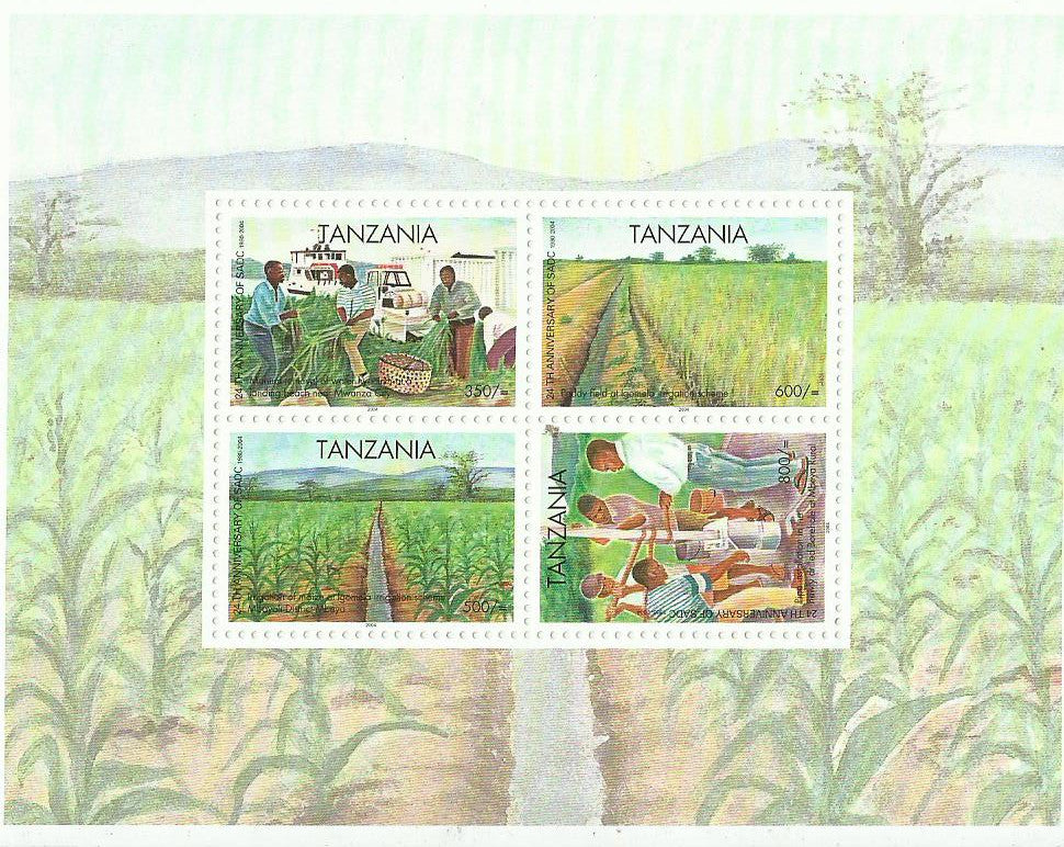 24th Anniversary of SADC - Sheetlet - Philately Tanzania stamps