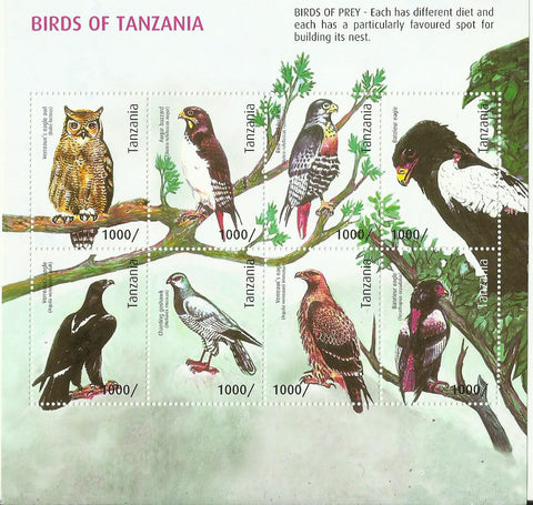 Birds of Tanzania - Sheetlet - Philately Tanzania stamps