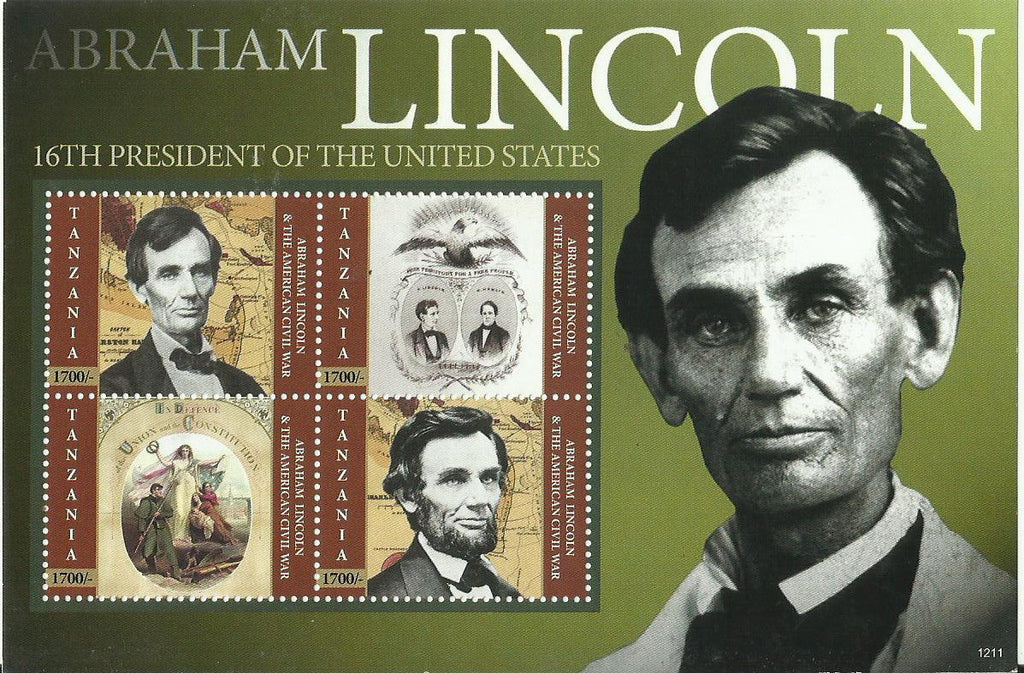 Abraham Lincoln - Sheetlet - Philately Tanzania stamps