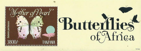 Butterflies of Africa - Salamis parhassus - Souvenir - Philately Tanzania stamps