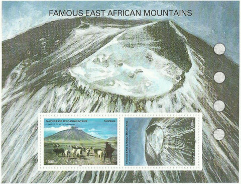 Famous East African Mountains - Sheetlet - Philately Tanzania stamps