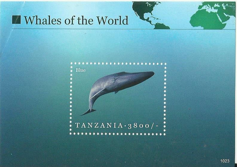 Whales of the World - Blue Whale - Souvenir - Philately Tanzania stamps