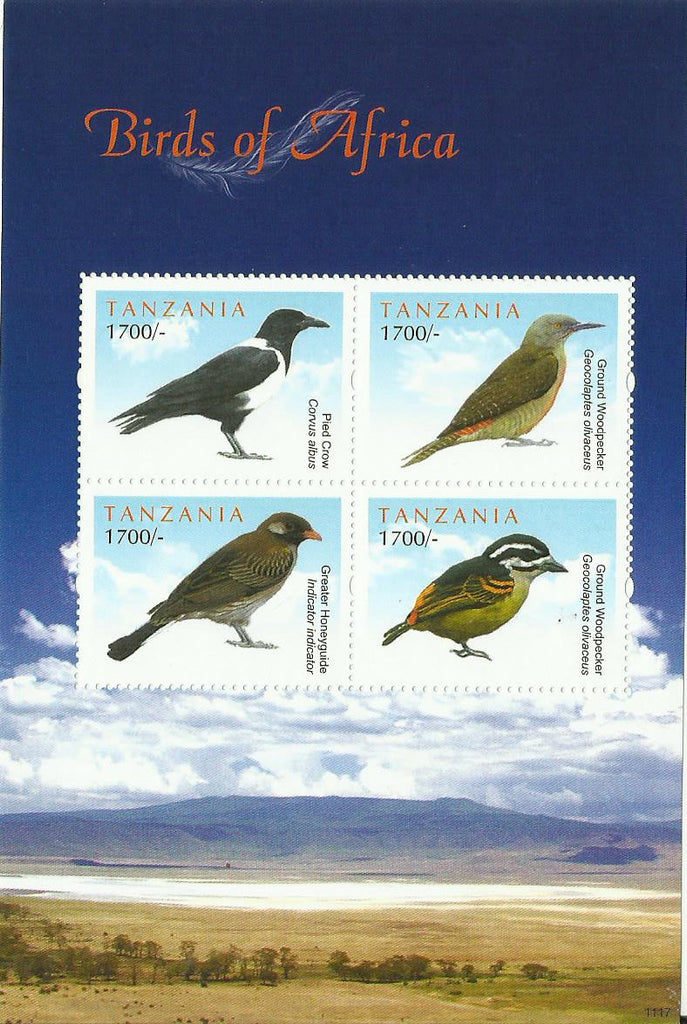 Birds of Africa - Sheetlet - Philately Tanzania stamps