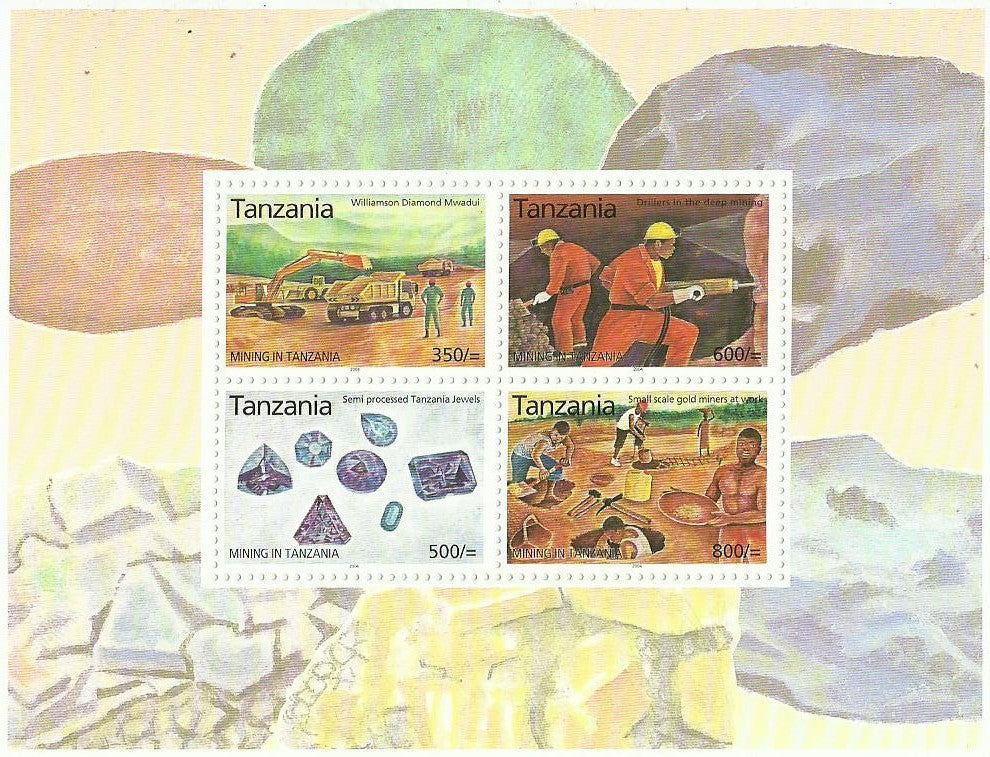 Mining in Tanzania - Sheetlet - Philately Tanzania stamps