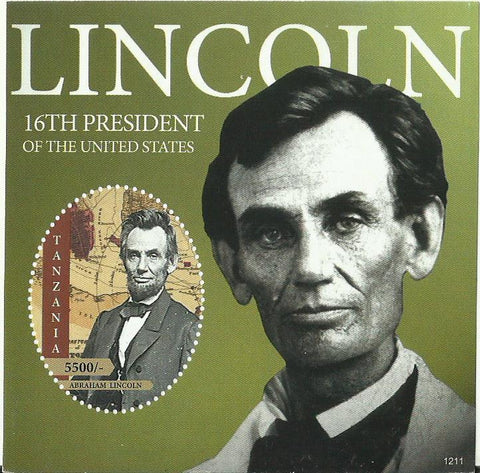 Abraham Lincoln - 16th President of the United States of America- Souvenir - Philately Tanzania stamps