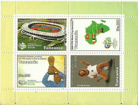 2006 FIFA World Cup Germany - Sheetlet - Philately Tanzania stamps