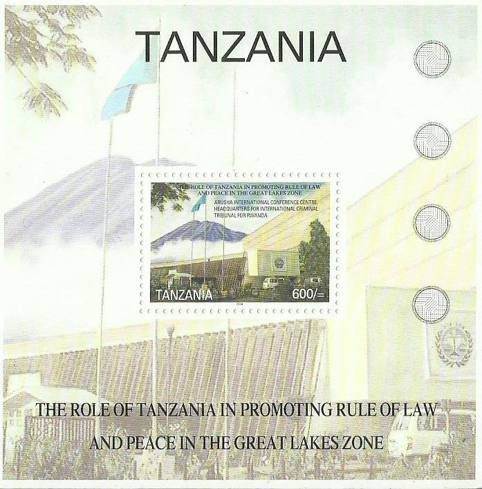 Role of Tanzania in Promoting Rule of Law and Peace in Great Lakes Zone - Souvenir - Philately Tanzania stamps