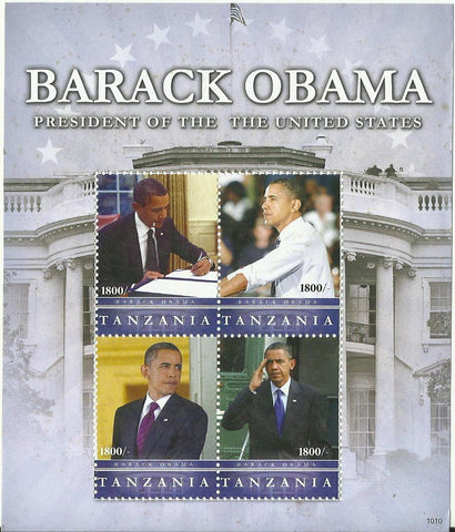 Barack Obama - President of the USA - Sheetlet - Philately Tanzania stamps