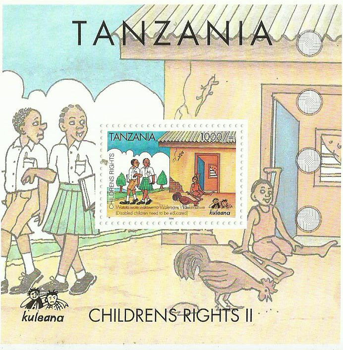 Childrens Rights II - Disabled children need to be educated - Souvenir - Philately Tanzania stamps