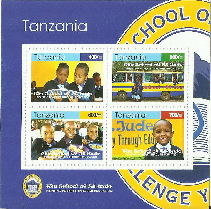 The School of St Jude - Sheetlet - Philately Tanzania stamps