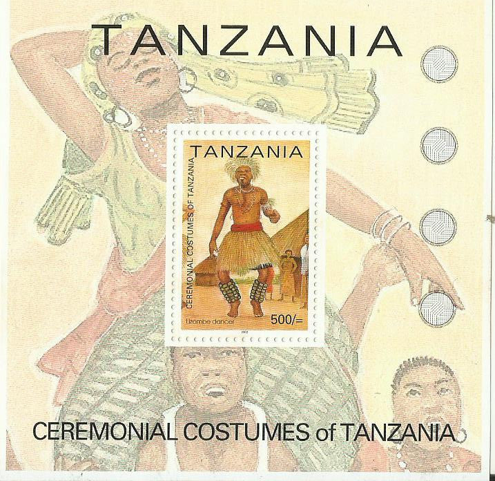 Lizombe dancer - Souvenir - Philately Tanzania stamps