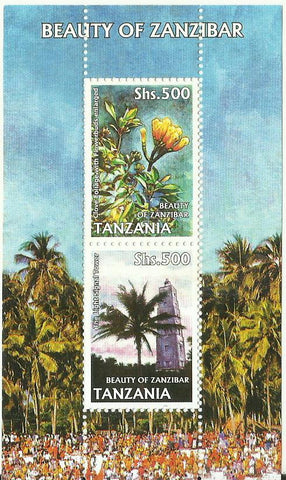 Beauty of Zanzibar - Sheetlet - Philately Tanzania stamps