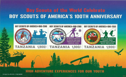 100th Anniversary of Boy Scouts of America - Sheetlet - Philately Tanzania stamps