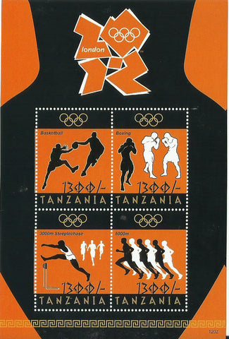 Olympics London 2012 - Sheetlet - Philately Tanzania stamps