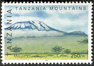 Tanzanian mountains - Mount Kilimandjaro - Philately Tanzania stamps