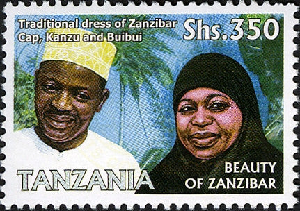 Traditional dress - Philately Tanzania stamps