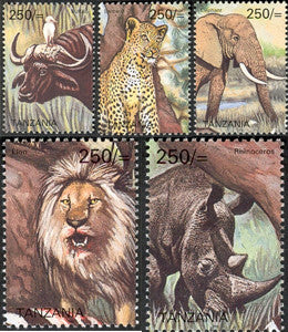 Big five - Set - Philately Tanzania stamps